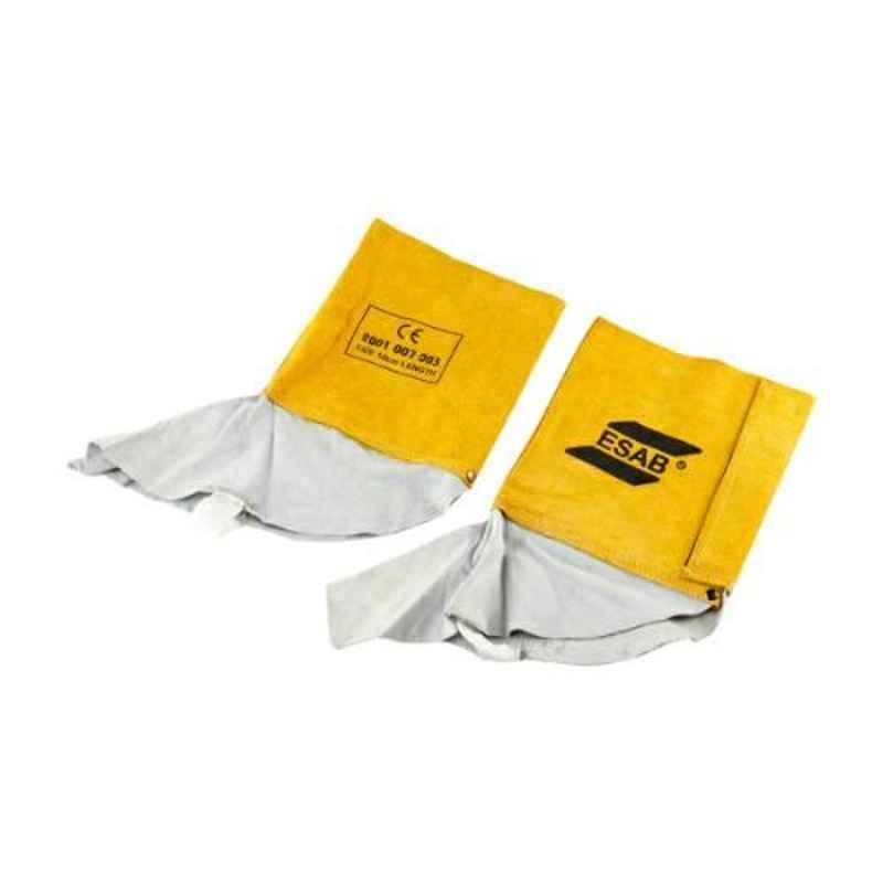 ESAB Yellow Leather Welding Leg Guard, Size: Standard