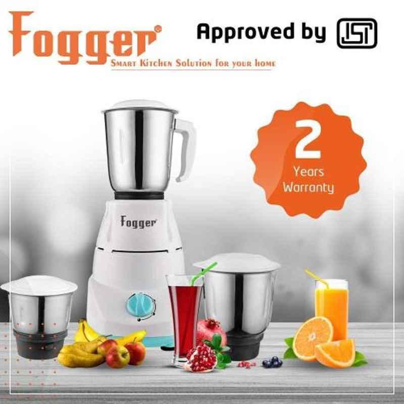 Fogger Royal 3 Jar 500W Stainless Steel Mixer Grinder, SBI00089
