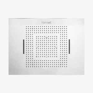 Kerovit 800x600mm Silver Chrome Finish Luxury Top Ceiling Shower, KA600001-1