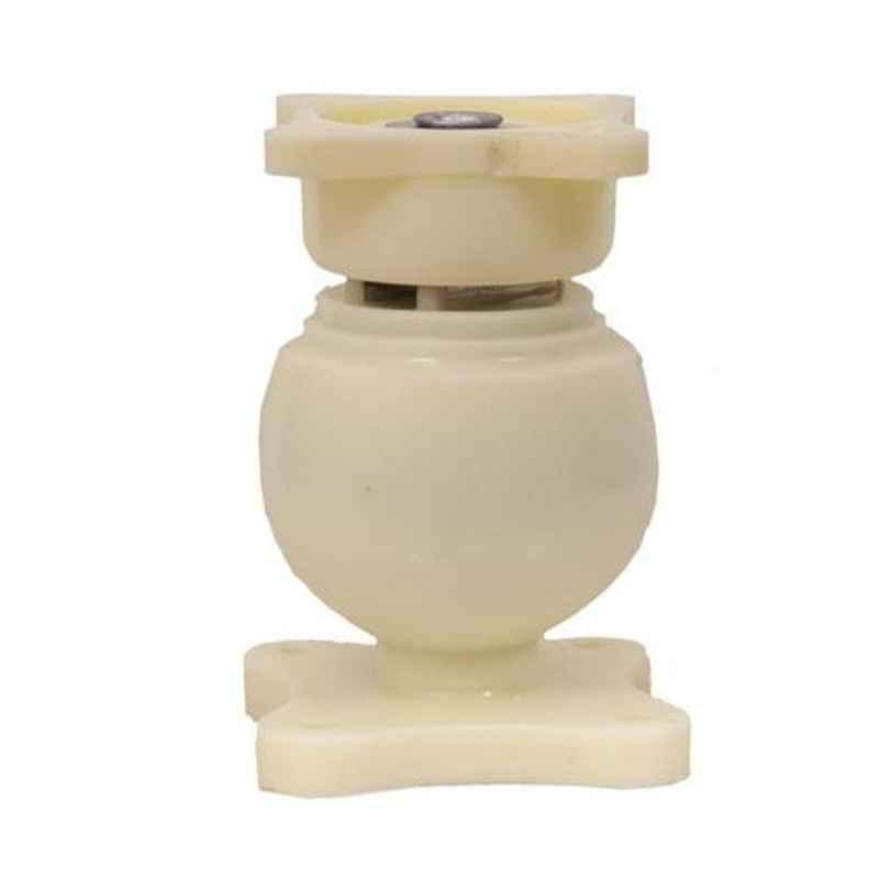 Nixnine Plastic Ivory Magnetic Door Stopper, NO-6_IVR_1PS_A