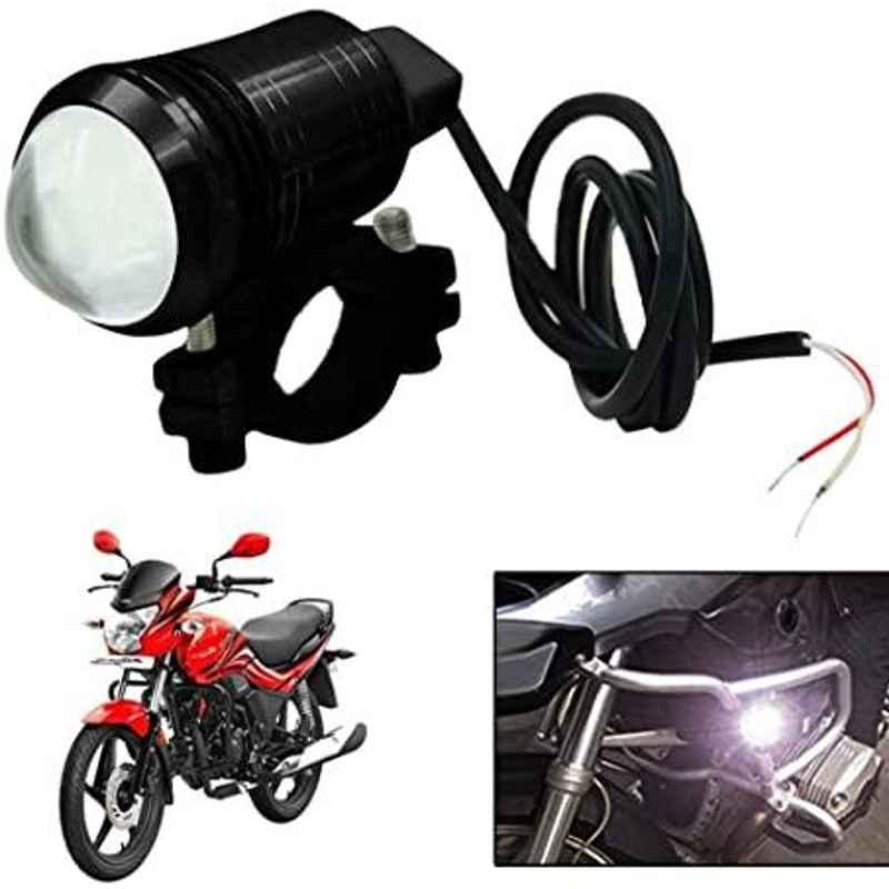 AOW U1 LED Motorycle Fog Light Bike Projector Auxillary Spot Beam Light (Black, 2 Pc) for Hero HF Deluxe