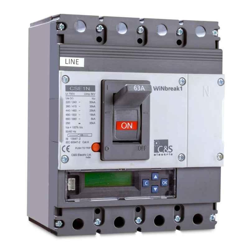 C&S 160A 65kA 4 Pole WiNbreak2 MCCB, CS400NETM33160A4PE