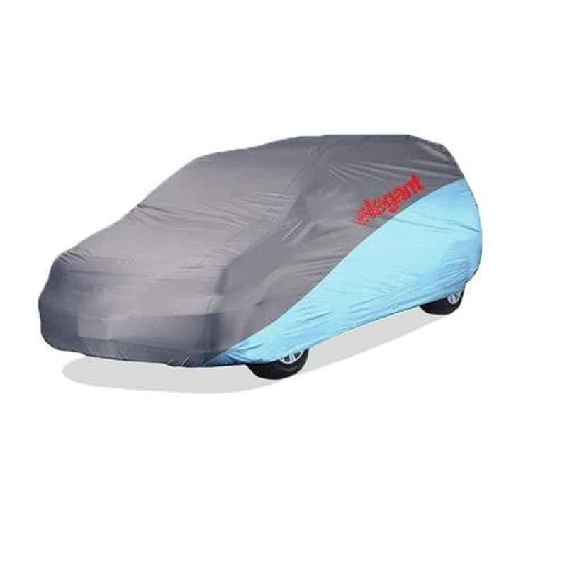 Elegant Grey & Blue Water Resistant Car Body Cover for Mahindra Marazzo
