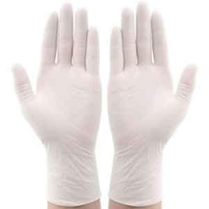 Oriley OR-SGL-M Medium Disposable Latex Rubber Examination Hand Gloves (Pack of 100)