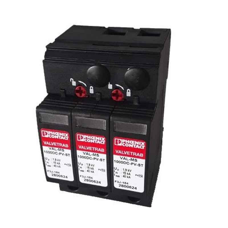 Phoenix Contact VAL-MS 1000DC-PV/2+V Black Solar Surge Protection Device
