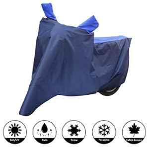 AllExtreme L-7009 Universal Full Bike Body Cover Water Resistant Dustproof Rustproof Two Wheeler Body Cover For Indoor Outdoor Protection (Navy Blue & Blue, Large)