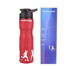 Strauss Steel 750ml Red Water Bottle, ST-1220