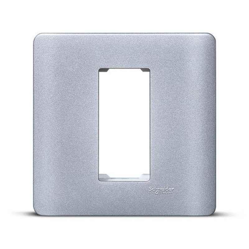 Schneider Zencelo 1 Module Satin Silver Grid & Cover Frame, IN8401C(SA) (Pack of 10)