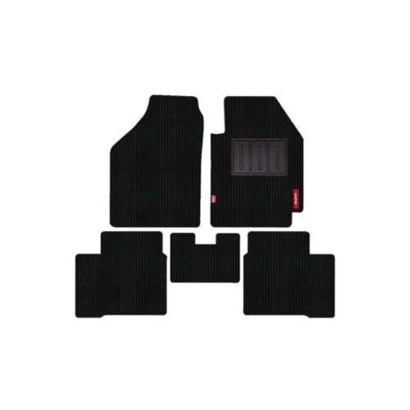 Elegant 5 Pcs Cord Black Carpet Car Mat for Mahindra XUV 300 W8 Set