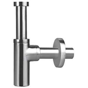 Hindware Addons Chrome Bottle Trap with Long Wall Connection Pipe & Wall Flange, F850004CP