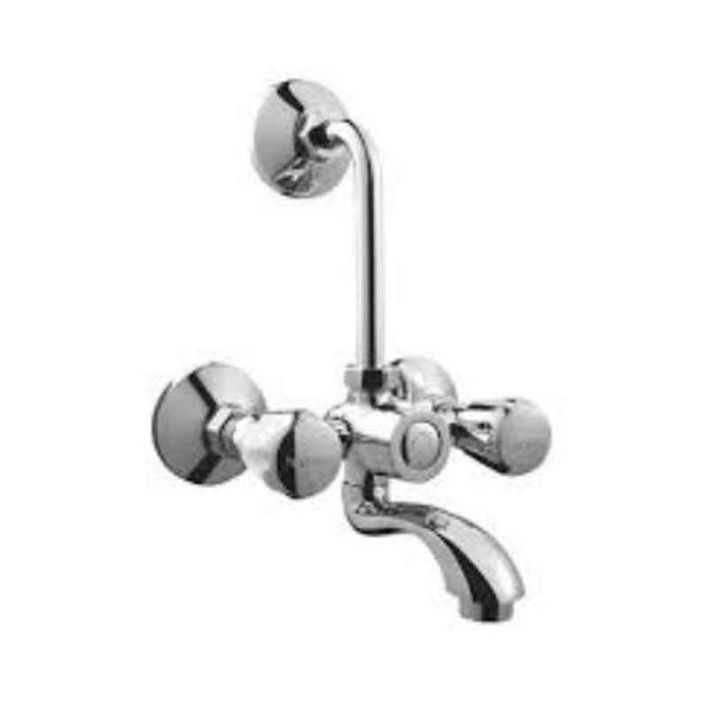 Hindware Contessa Plus Chrome Brass Wall Mixer with Provision for Over Head Shower, F330020