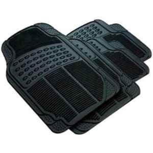 Love4ride 4 Pcs Black Rubber Car Floor Mat Set for Maruti Alto K10