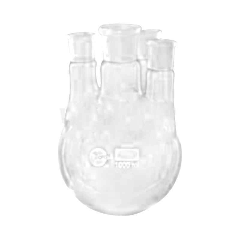 Borosil 50ml Round Bottom Flask with 3 Parallel Side Neck, 4386A12