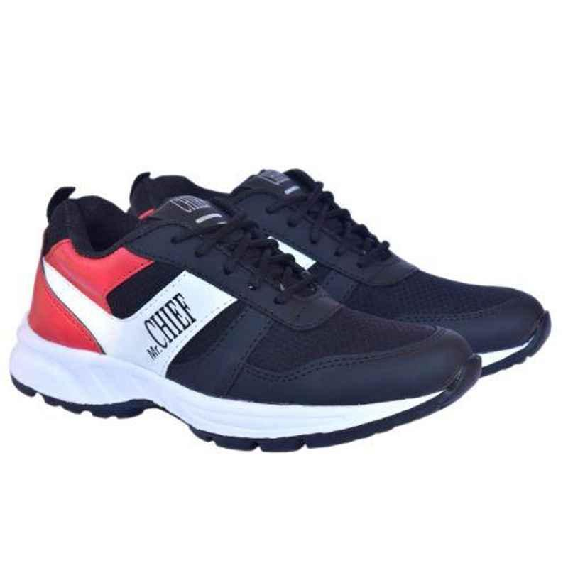 Mr Chief 5025 Black Smart Sports Running Shoes, Size: 6