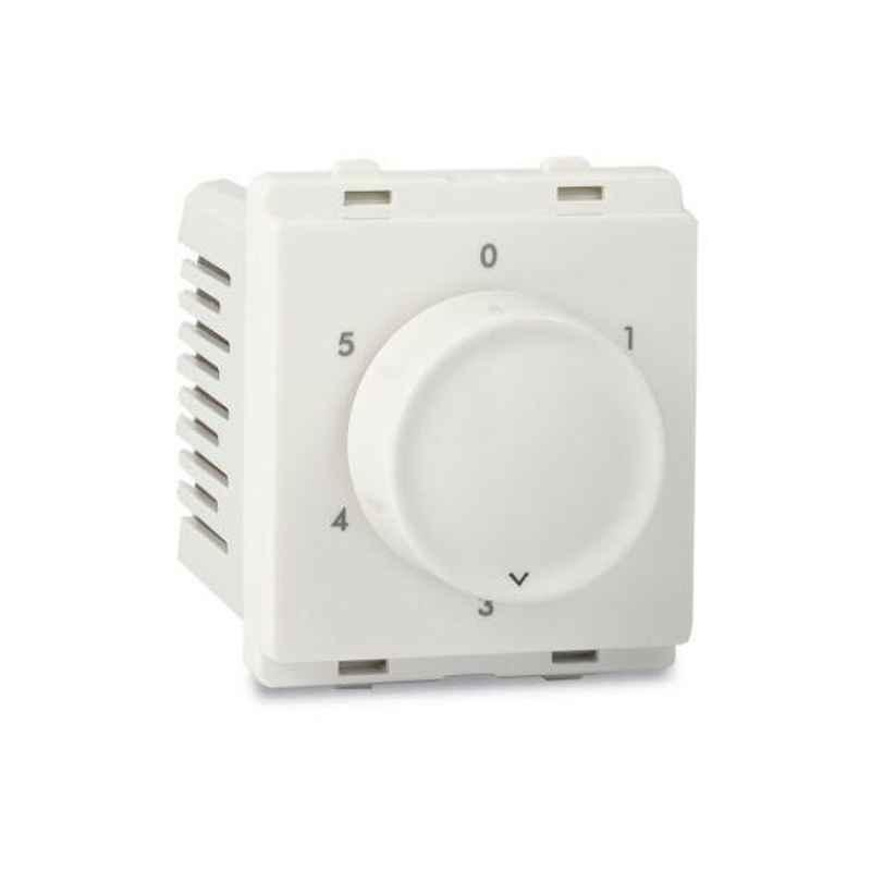 Schneider Livia 2 Module White Step Type Fan Regulator, P3200 (Pack of 6)