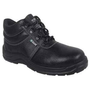 Zain ZM Rider Leather Steel Toe Black Safety Shoes, 82301, Size: 7