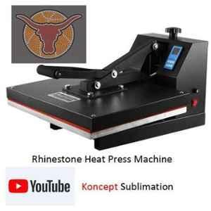 Koncept Rhinestone Pasting Heat Press Machine, Printing To Be Done On: T-Shirt, T Shirt