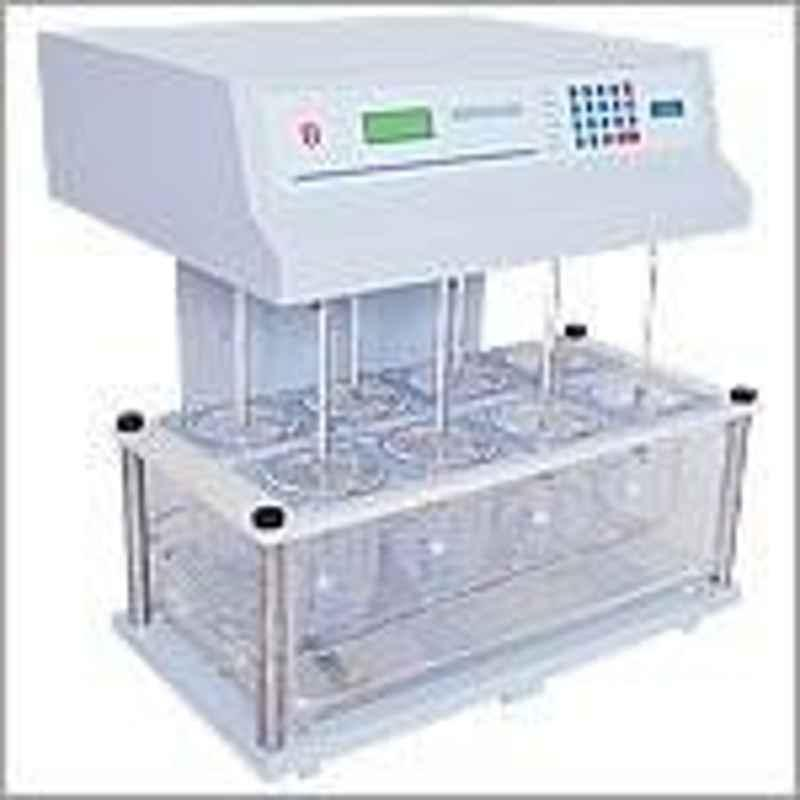 Electronics India 1918 Microprocessor Dissolution Test Apparatus with 25 - 200 RPM,+1 RPM Stirrer