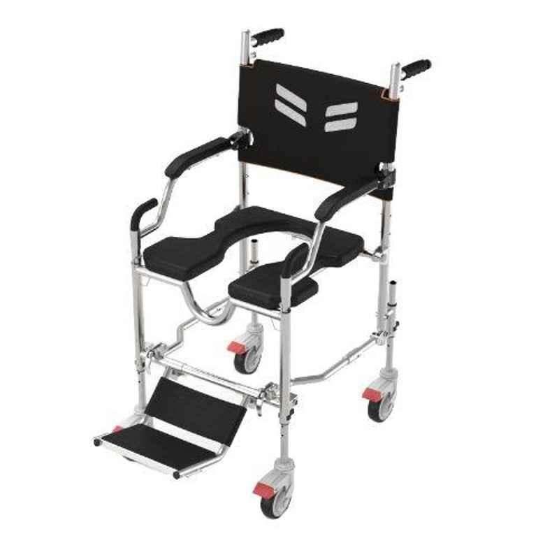 Frido Go 36.5x20.7x40.2 inch Assistant Propelled Foldable & Waterproof Bathroom Wheelchair, FS168A