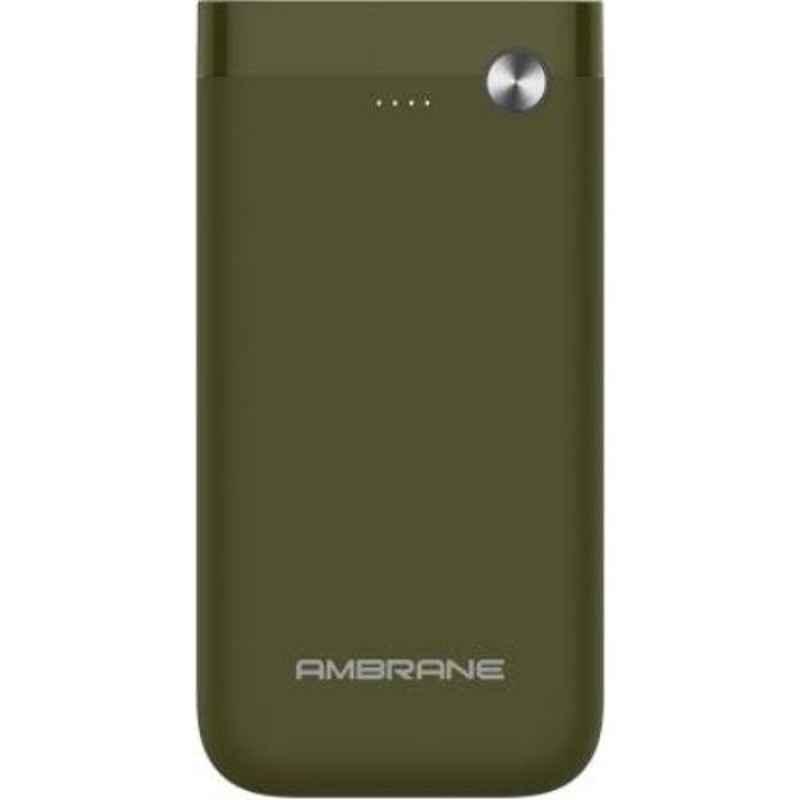 Ambrane PP-150 15000mAh Olive Green Li-Polymer Power Bank