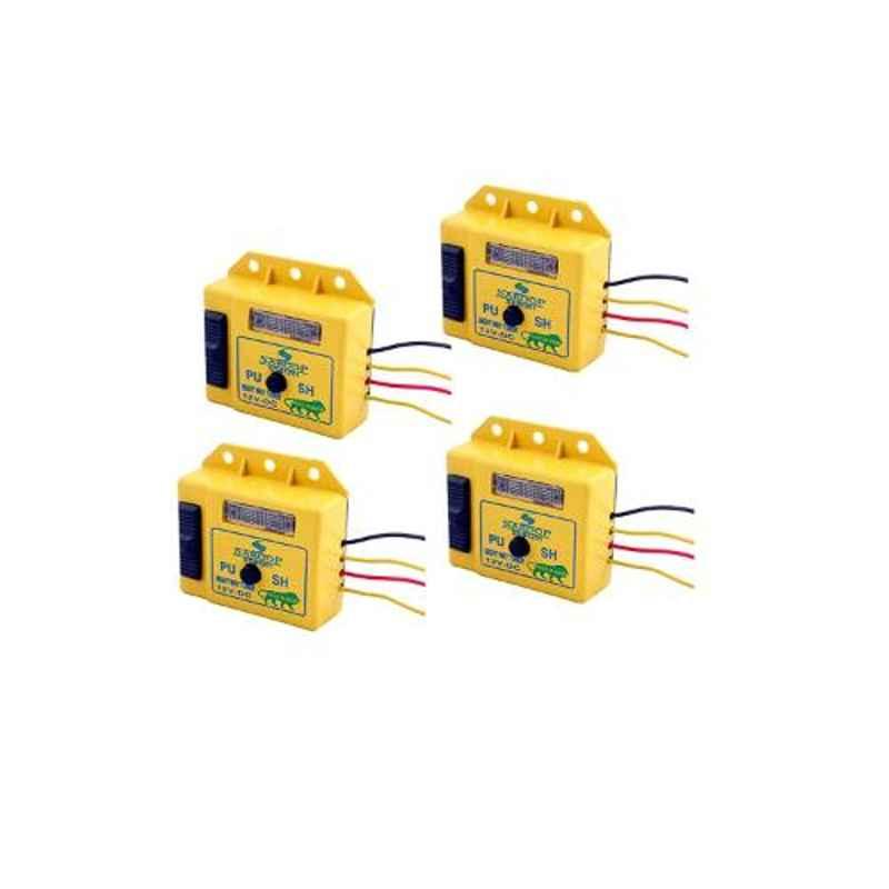 Saroop 81201-4 12V 8 Way Yellow Plastic Horn Tuner, ST81201-4 (Pack of 4)