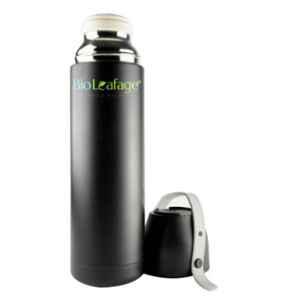 Bio Leafage 500ml Black Stainless Steel Flask Water Bottle, BLWBB004-500ML