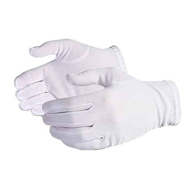 Khushi Lint Free White Full Fingered Hand Gloves