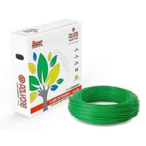 Polycab 0.75 Sqmm 90m Green Single Core FRLF Multistrand PVC Insulated Unsheathed Industrial Cable