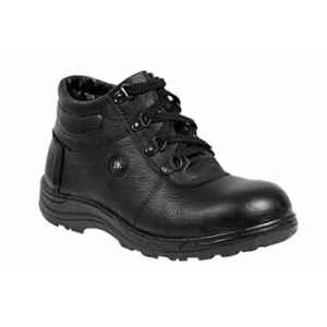 JK Steel JKPB057BLK Steel Toe Black Safety Shoes, Size: 6