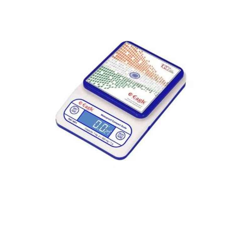 Eagle ABS High Precision Waterproof Deep Blue & White Compact Weighing Scale, PKT-WP1