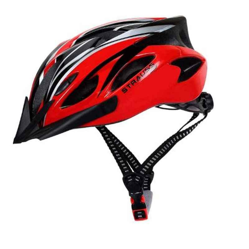 Strauss 21x18cm Black & Red Cycling Helmet, ST-1555