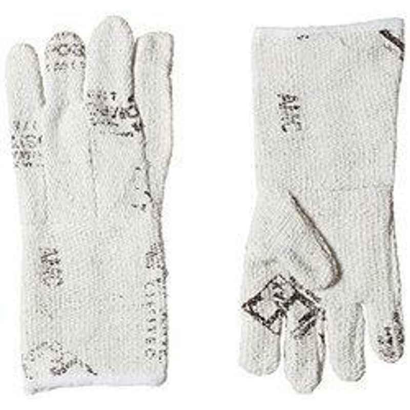 Siddhivinayak 14 inch Cotton Heavy Asbestos Hand Gloves (Pack of 10)