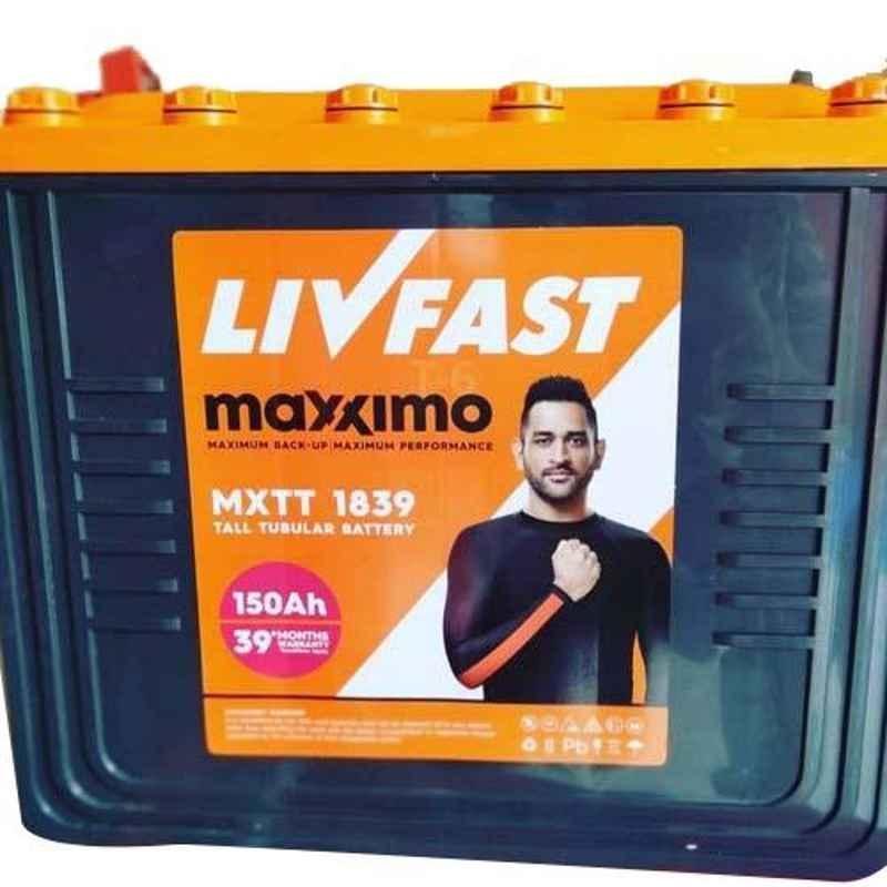 Livfast Maxximo MXTT 1839 150Ah Tall Tubular Battery