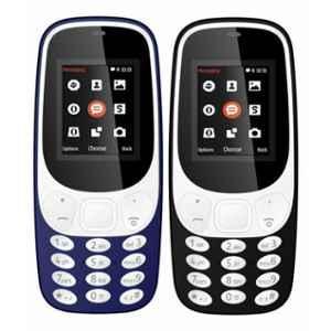 I Kall K3310 Black & Dark Blue Feature Phone Combo