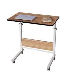 Regent 23.6x15.8x26-36 inch Wooden Oak Portable Table with Adjustable Height, VON-1002