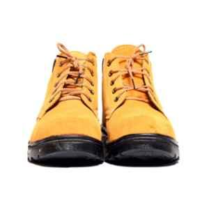 Darit ES-3-12 Leather Steel Toe Black & Mustard Safety Shoes, Size: 12