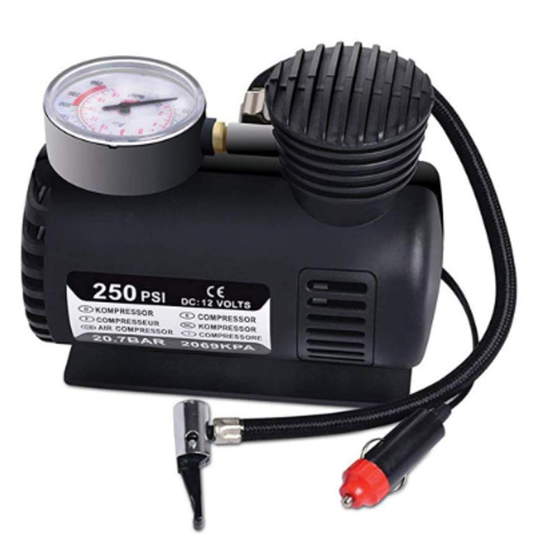 Vox 12V Electric Inflatable Air Pump Compressor for Car & Bike Tyre
