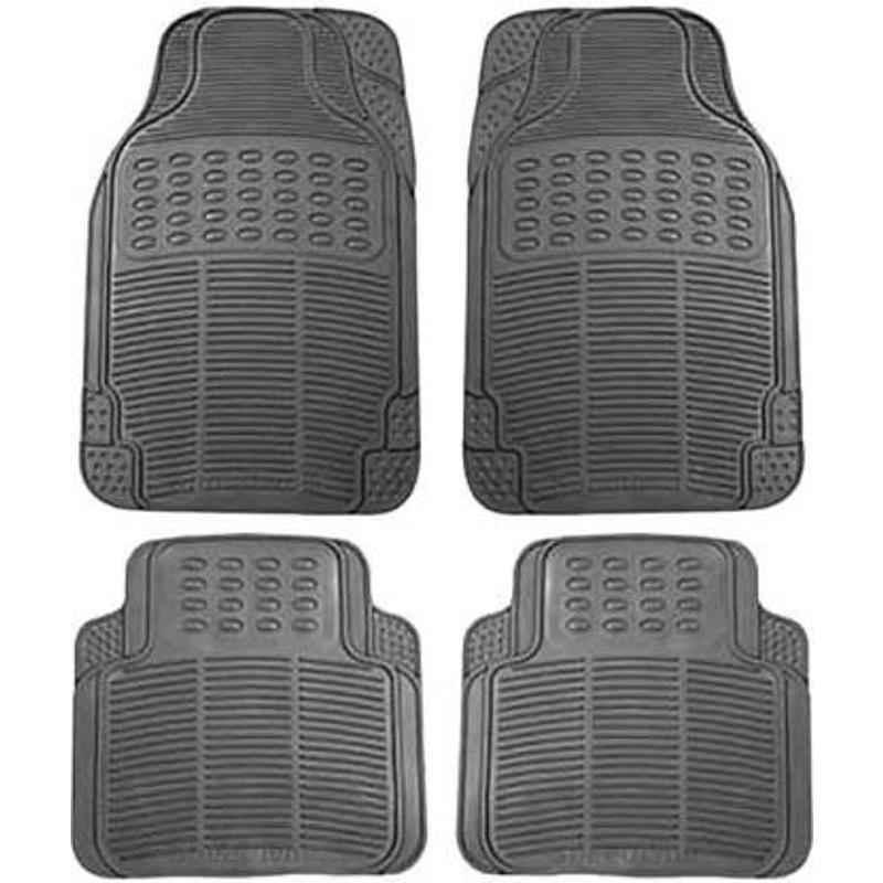 Love4ride 4 Pcs Black Rubber Car Floor Mat Set for Datsun Go