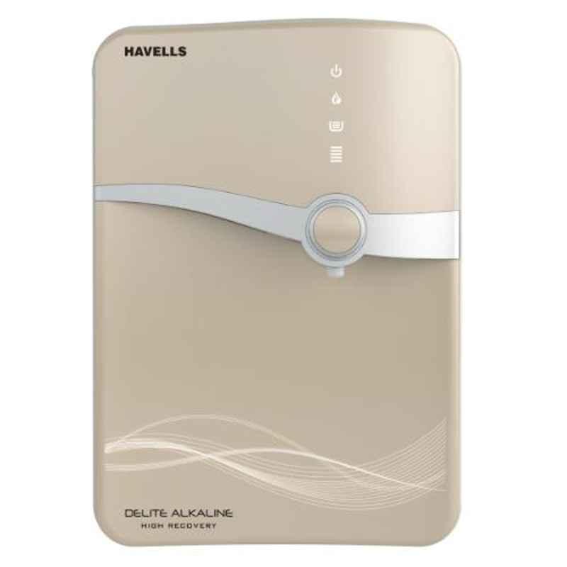 Havells Delite Alkaline 60W Beige & White RO, UV & UV Water Purifier, GHWRDLC015