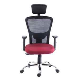 Bluebell Golf Ergonomic High Back Black & Maroon Revolving Chair, BBVS01-EL05