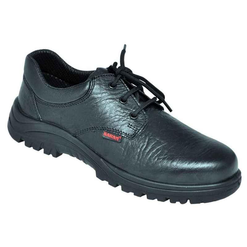 Karam FS 05 Steel Toe Black Safety Shoes, Size: 8