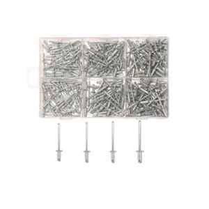 GSK Cut 400 Pcs Aluminium Blind POP Rivet Set for Riveter Machine