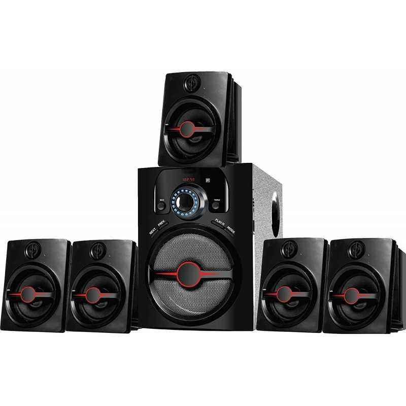 I kall 5.1 Channel Black Bluetooth Multimedia Speakers