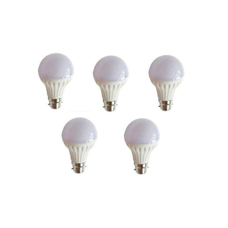 EGK 5W B-22 White LED Bulbs (Pack of 5)