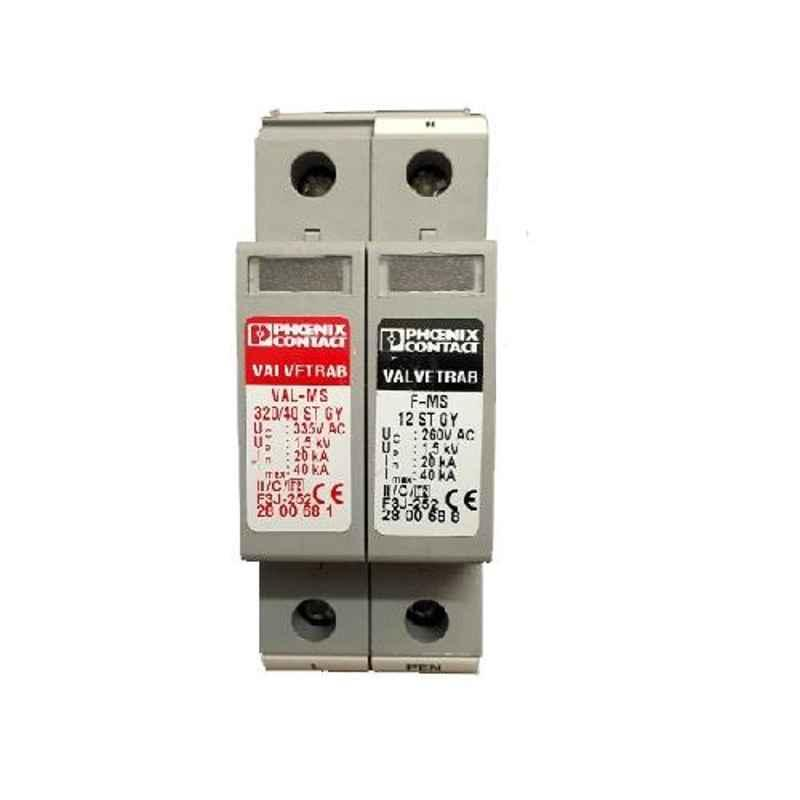 Phoenix Contact VAL-MS 320/40/1+1/FM GY1 Single Phase Grey AC Surge Protection Device, 2801278