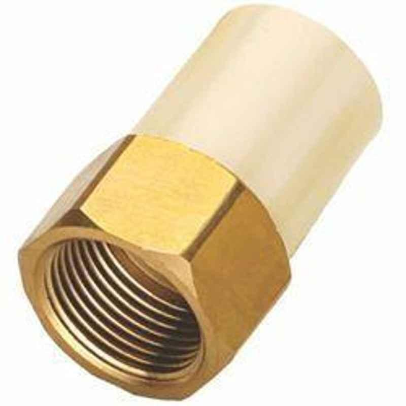 Astral CPVC Pro 15mm Female Adaptor with Brass Threads, M512111701