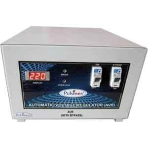 Pulstron PTI-2095B 2kVA 90-290V Single Phase Light Grey Bypass Automatic Mainline Voltage Stabilizer