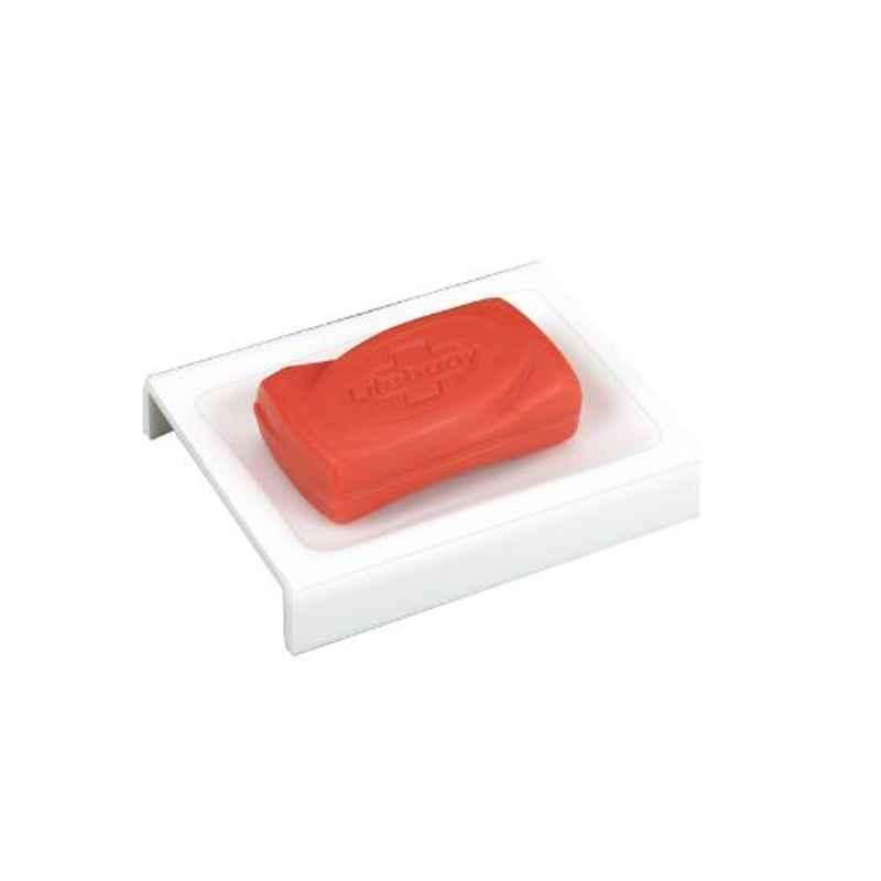 Axtry 6 inch Acrylic White Bathroom & Kitchen Floor Soap Dish