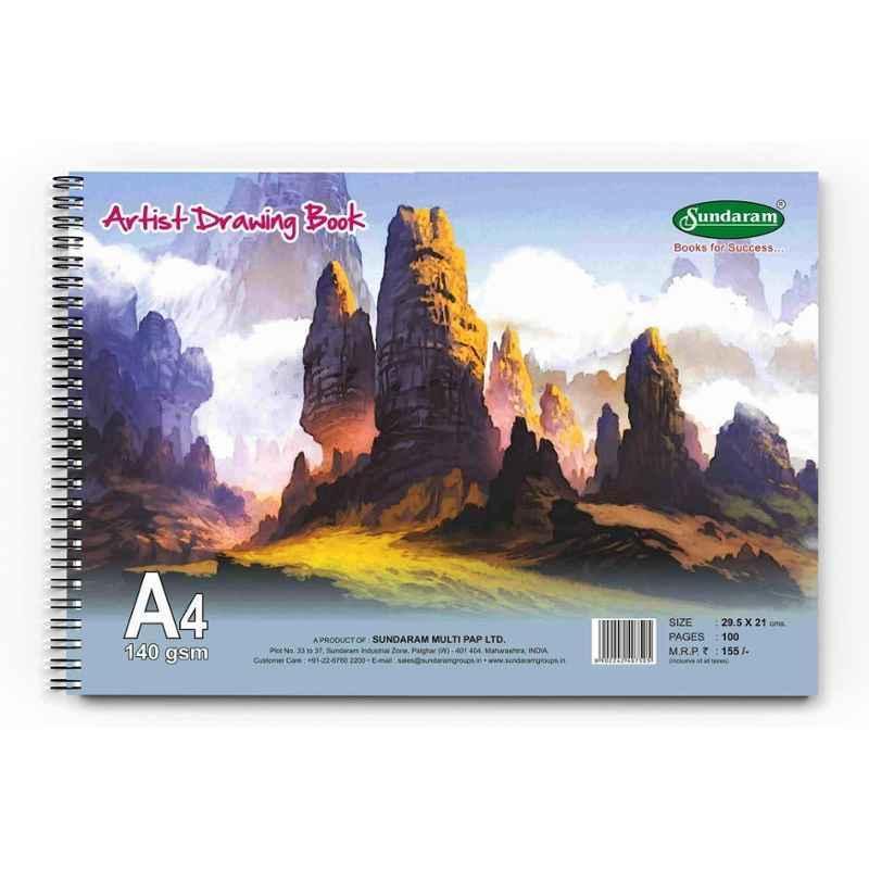 Sundaram 100 Pages A/5 Artist Drawing Book, D-10