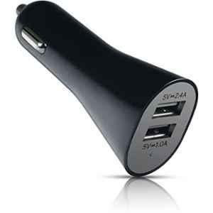 AT&T 3.4A Black Dual USB Car Charger, CC34
